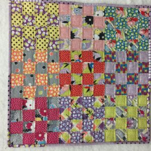 9 patch mini quilt